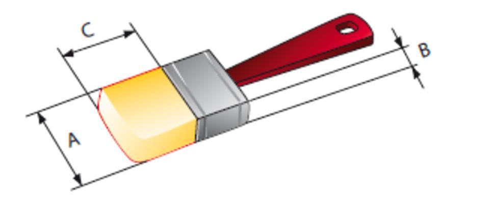 Muovivartinen pensseli, vaalea harjas - Osborn - Leveys: 20 mm