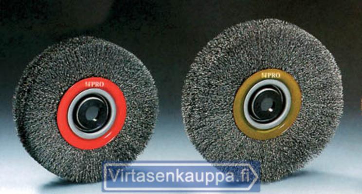 Pyöröteräsharja, 150 x 24 mm (ruostumaton), Osborn