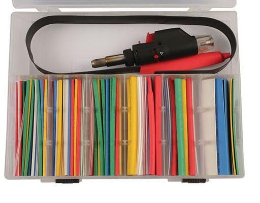 Kutistesukkalajitelma 1.5-15mm mini-kuumentimella - Värilliset lämpökutisteletkut