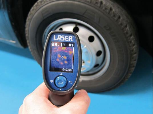 Lämpökamera UV-valolla, Laser - Lämpökamera UV-valolla