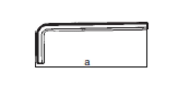 Kuusiokoloavain 8,0 mm, lyhyt - Felo