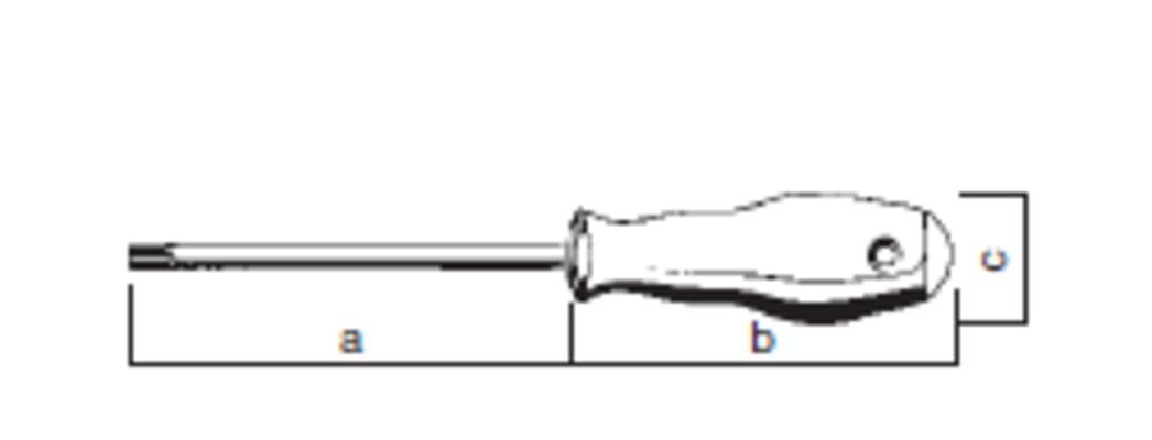Torx-ruuvitaltta reiällä, T30 - Felo 500