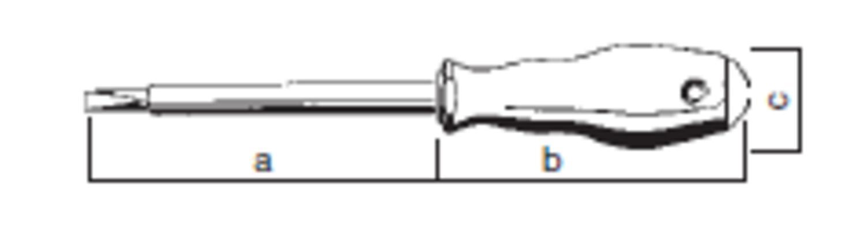 VDE-eristetty uraruuvitaltta 3,0 mm - Felo 500