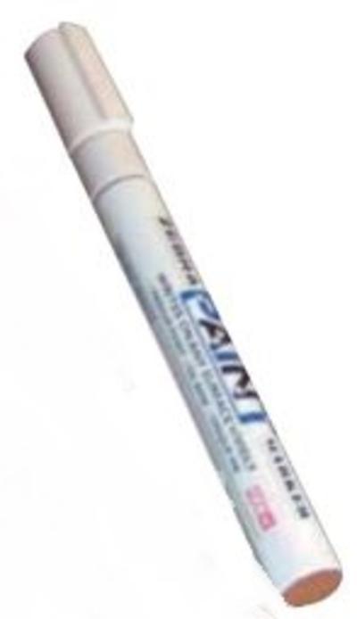 Merkkauskynä 2 mm, valkoinen - Merkkauskynä 2 mm, valkoinen