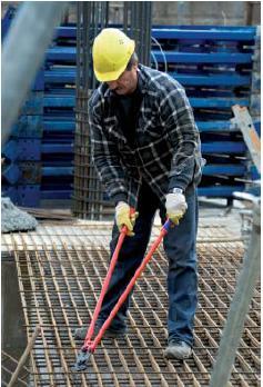 Pulttisakset betoniraudoitukselle 950 mm, Knipex - Pulttisakset