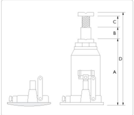Hydraulinen pullonostin ADX4-370, AC