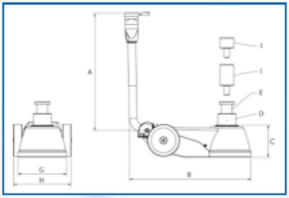 Paineilmahydraulinen nostin B25-2,  AC