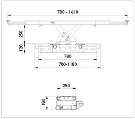 Paineilmahydraulinen kevenninnostin SD20PHL, AC - Paineilmahydraulinen kevenninnostin SD20PHL, AC