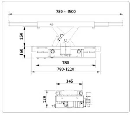 Paineilmahydraulinen kevenninnostin SD40PHL, AC