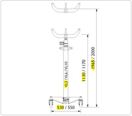 Vaihteistonostin VL3, AC - Vaihteistonostin VL3 300KG