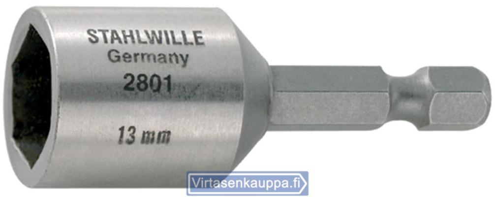 """Kuusikulmainen hylsyavain 1/4"""", Stahlwille 2801 - Avainväli 7 mm"""