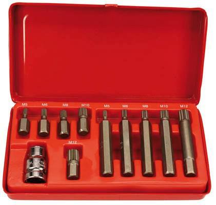 Ruuvauskärkisarja 10 mm, XZN, King Pro Tools