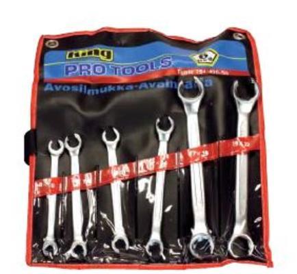 Avosilmukka-avainsarja DIN 3118, King Pro Tools - Avosilmukka-avainsarja DIN 3118