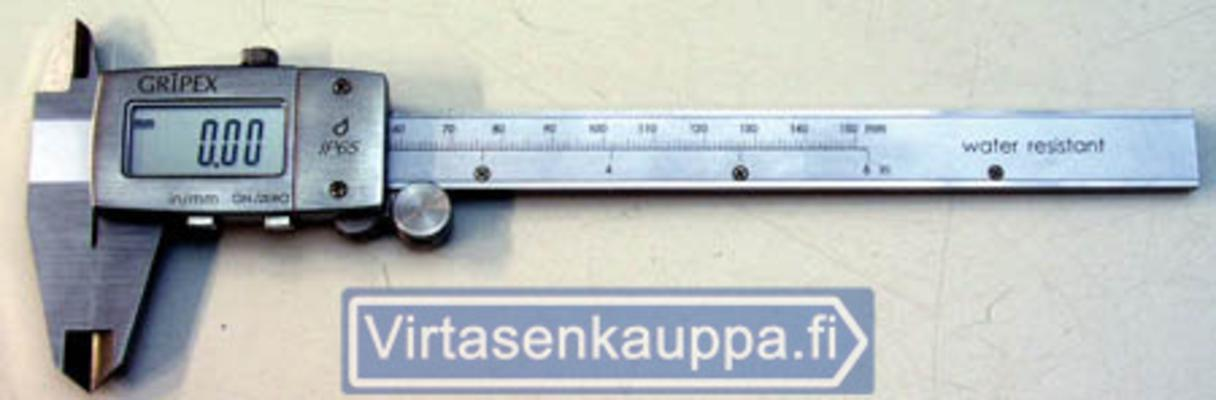 Digitaalinen työntömitta, 150 mm - Gripex