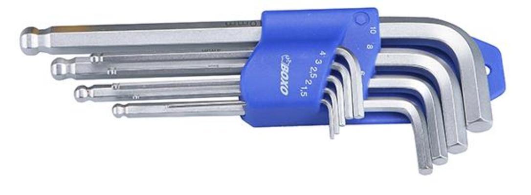 Kuusiokoloavainsarja 1,5 - 10 mm, Boxo - Kuusiokoloavainsarja 1,5 - 10 mm, Boxo
