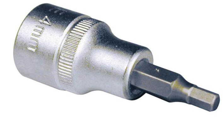 """Hylsyavain 3/8"""", kuusiokolo, King Pro Tools - 4 mm"""
