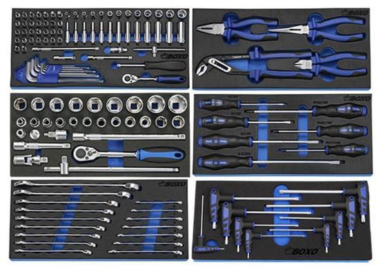 Työkaluvaunu työkaluilla, Boxo - Työkaluvaunu työkaluilla (ilman laatikoston hidastimia)