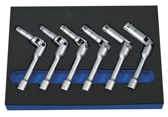 Sytytys- ja hehkutulppahylsysarja 8-16 mm, Boxo - Sytytys- ja hehkutulppahylsysarja 8-16 mm