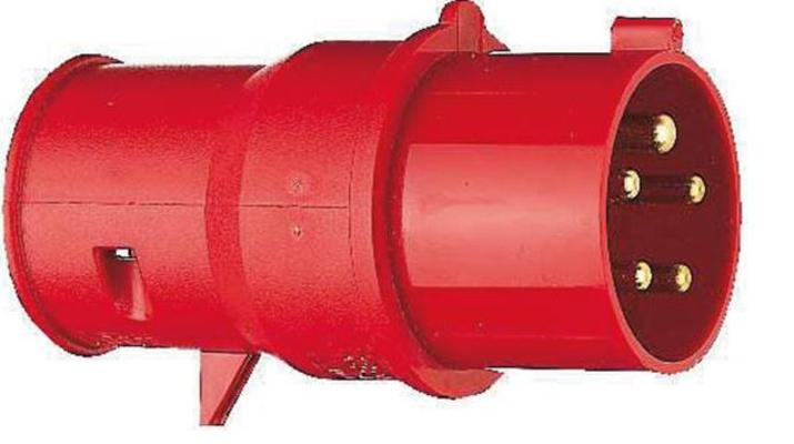 CEE- pistoke 400 V vaiheenvaihtimella - CEE- pistoke 16 A vaiheenvaihtimella