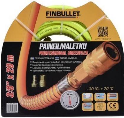 "Paineilmaletku 3/8"" (20 m) PVCflex, Finbullet"