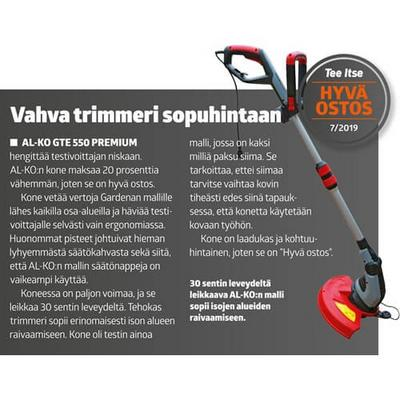 Sähkötrimmeri GTE 550 Premium, AL-KO - Ruohotrimmeri