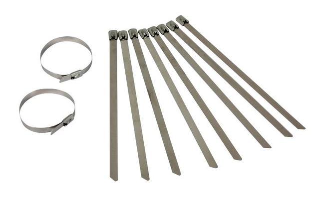 Johdinside, ruostumatonta terästä (10 kpl), Förch - Johdinside, 200 x 4,6 mm, ø enintään 51 mm