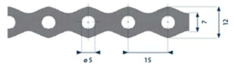 Patenttivanne 12mm x 0,7mm x 3m, Finbullet