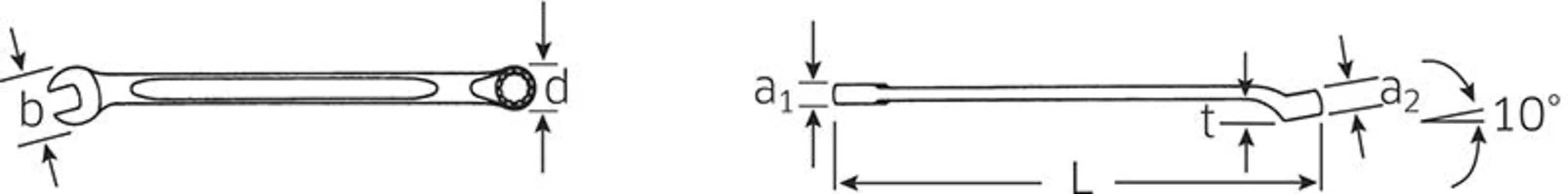 Kiintosilmukka-avain, Stahlwille - Kiintosilmukka-avain 6 mm
