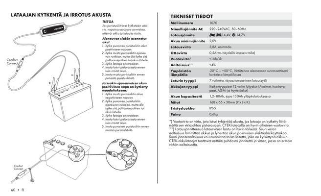 Akkulaturi MXS 3.8, 12 V / 3,8 A, CTEK - Akkulaturi MXS 3.8, 12 V / 3,8 A