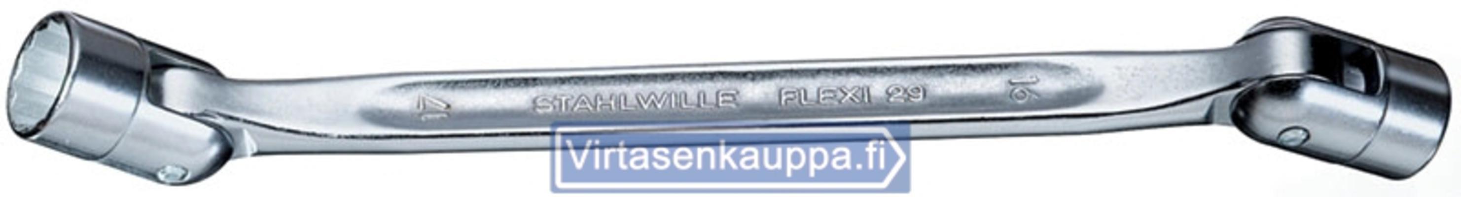 Nivelhylsyavain Flexi - Stahlwille 29 - Avainväli 8 x 9 mm, pituus 201 mm