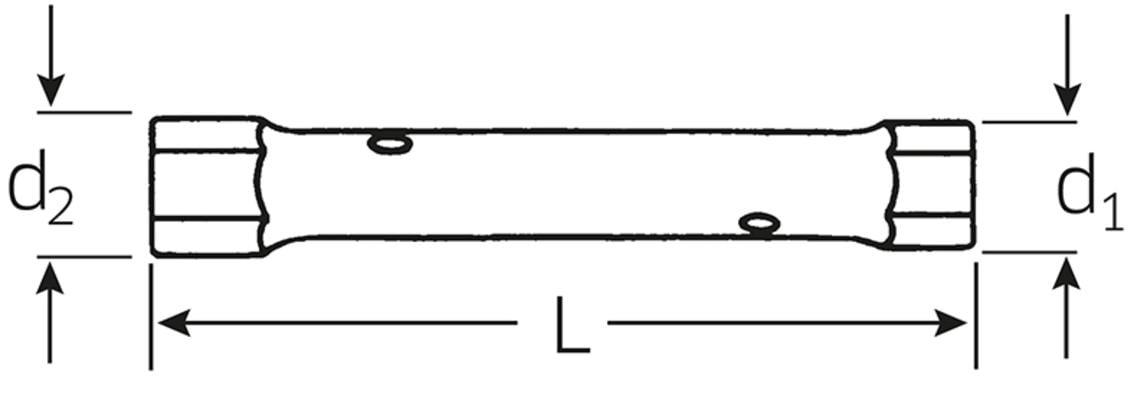 Putkihylsyavain 6x7 mm, Stahlwille - Putkihylsyavain 6x7 mm