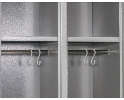 2-ovinen peltikaappi / vaatekaappi (1820 x 600 x 500 mm) - 2-ovinen peltikaappi / vaatekaappi (1820 x 600 x 500 mm)