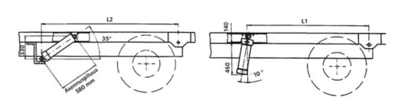 Kippisylinteri 6 t, yläkiinnityksellä - Kippisylinteri 6 t, yläkiinnityksellä