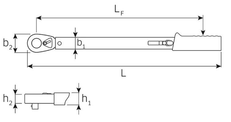 Momenttiavain (6-50 Nm), räikällä - Stahlwille - Momenttiavain 6-50 Nm, räikällä