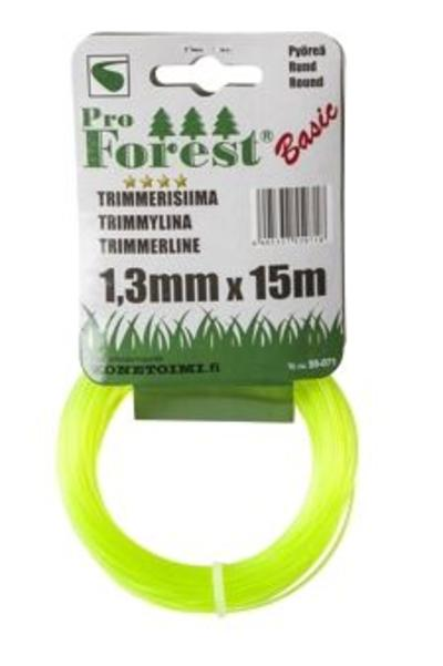 Trimmerisiima Basic, ProForest - Trimmerisiima 1,3 mm / 15 m
