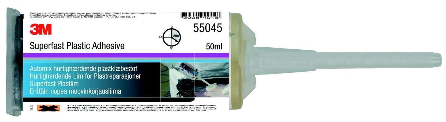 Erittäin nopea muovinkorjausliima 55045, 3M - Erittäin nopea muovinkorjausliima, 3M