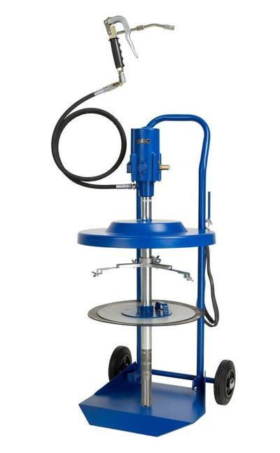 Paineilmakäyttöinen rasvauslaite (50 kg astialle), Pressol - Siirrettävä voitelulaite 50 kg astioille