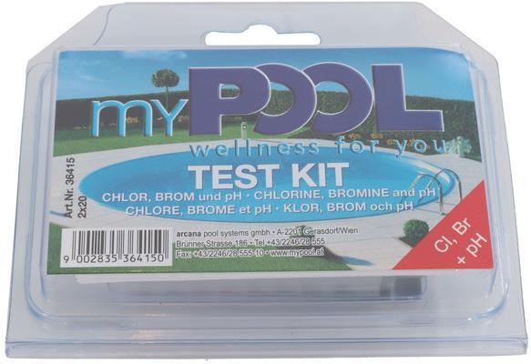 Testisarja pH/kloori/bromi, MyPool