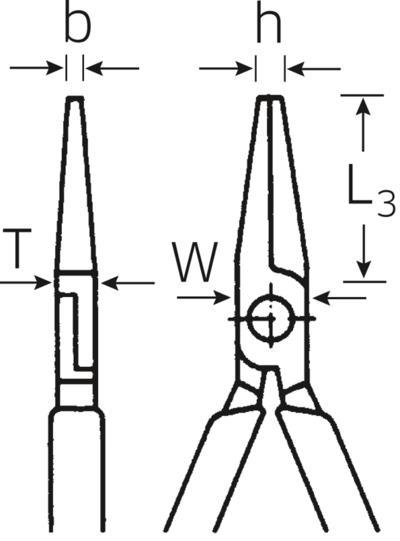 Pitkät laattapihdit, 160 mm, Stahlwille - Pitkät laattapihdit, 160 mm