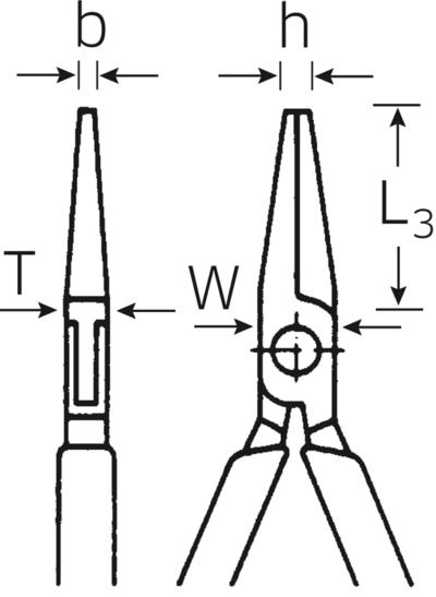 Elektroniikka-laattapihdit 125 mm, Stahlwille - Elektroniikka-laattapihti 125 mm
