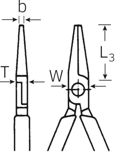 Lyhyet pyöröpihdit, 160 mm - Stahlwille - Lyhyet pyöröpihdit, 160 mm