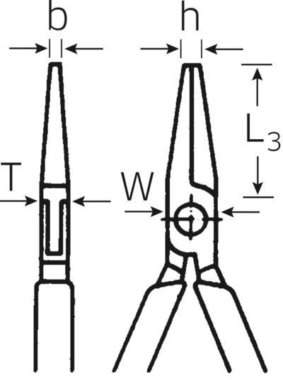 Mekaaanikon kärkipihdit 170 mm, Stahlwille - Mekaaanikon kärkipihdit 170 mm