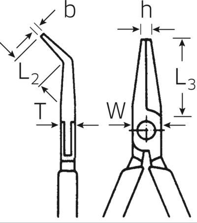 Taivutetut mekaanikon kärkipihdit 170 mm, Stahlwille - Taivutetut mekaanikon kärkipihdit 170 mm