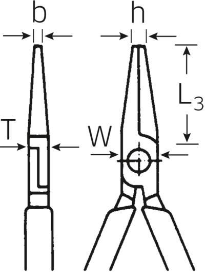 Elektroniikka-kärkipihti, 160 mm, Stahlwille - Elektroniikka-kärkipihti, 160 mm
