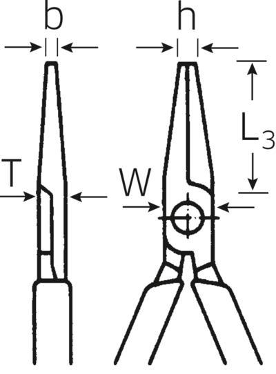 Mekaanikon kärkipihti 200 mm, Stahlwille - Mekaanikon kärkipihti 200 mm
