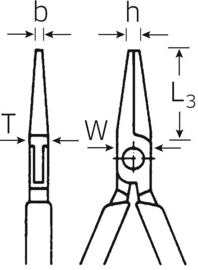 Elektroniikka-kärkipihti 125 mm, Stahlwille - Elektroniikka-kärkipihdit 125 mm