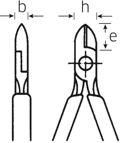 Sivuleikkurit 160 mm, Stahlwille - Sivuleikkurit 160 mm