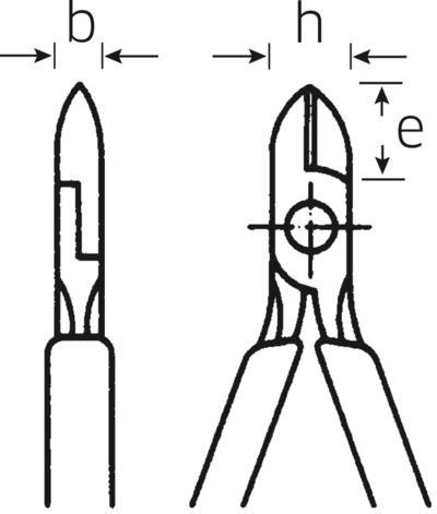 Sivuleikkurit 110 mm, Stahlwille - Sivuleikkurit 110 mm