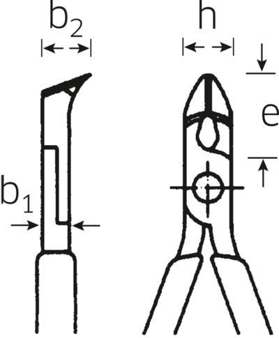 Elektroniikka-viistosivuleikkurit 112 mm, Stahlwille - Elektroniikka-viistosivuleikkurit 112 mm