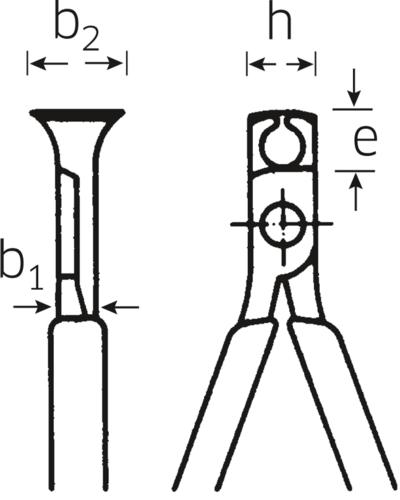Päätyleikkurit 160 mm (kromattu), Stahlwille - Päätyleikkurit 160 mm (kromattu)